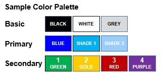 Sample color palette.
